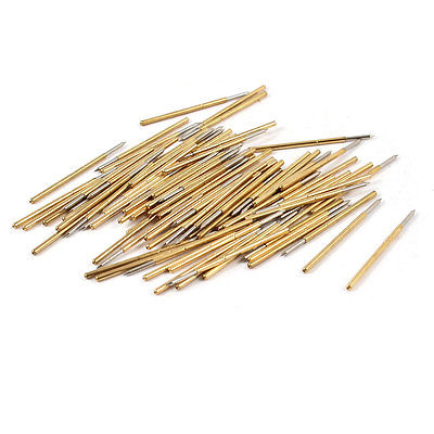 Free Shipping 100 Pcs P100-B 1mm Dia Point Tip Spring PCB Testing Contact Probes Pin 100 pieces pl75 b1 0 74mm spear tip spring pcb testing contact probes pin free shipping