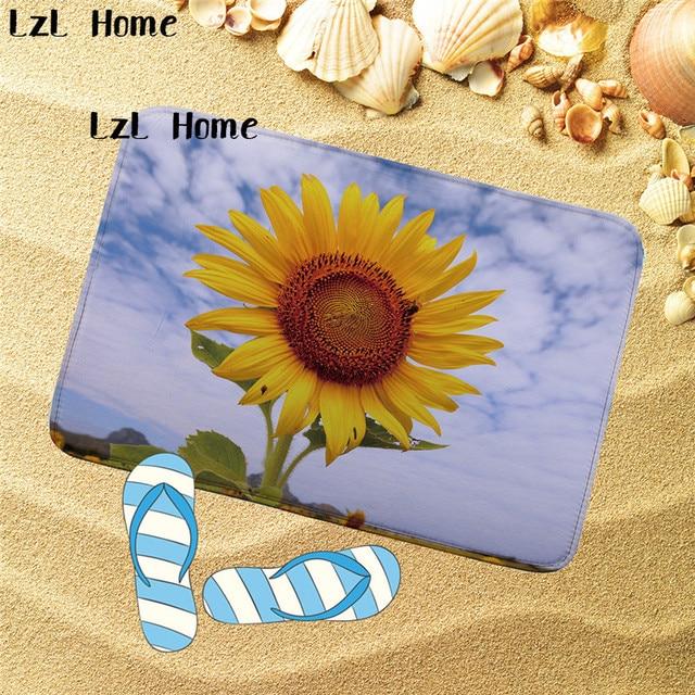 LzL Home 1PC Anti Slip Bath Mats Large Bathroom Rugs High Quality Toilet  Mat Carpet Lid