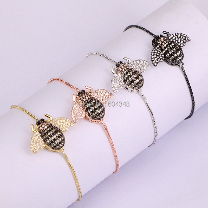 Bracelet de charme abeille pour femme
