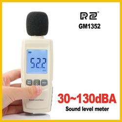 Rz mini medidores de nível de som decibel medidor registador de ruído detector de áudio digital diagnóstico-ferramenta automotivo microfone gm1352