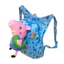 Chica mochila mochila mochila para los niños regalo de cumpleaños del Muchacho peppa cerdo Lindo de la historieta del Niño mochila mochila mochila