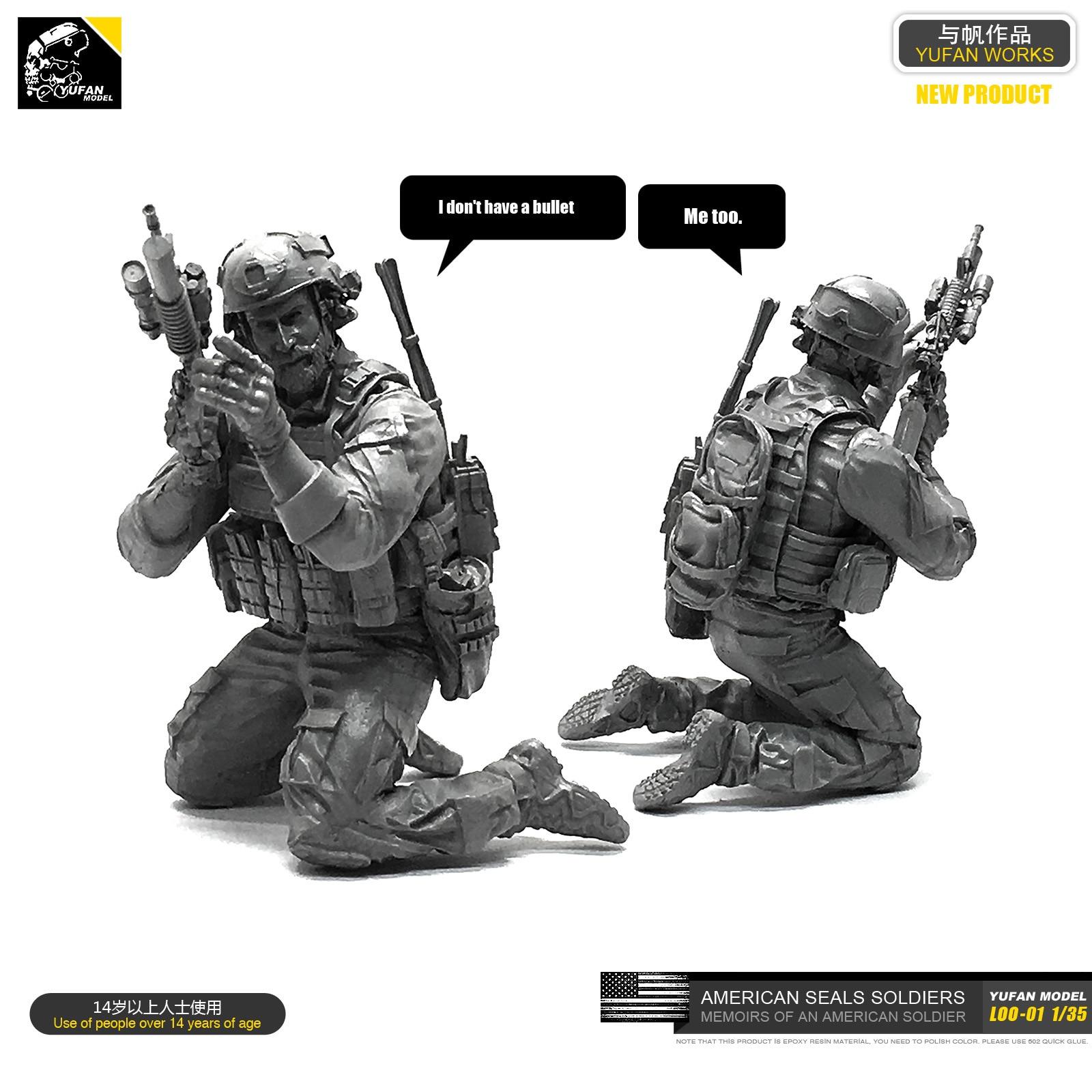 Yufan Model 1/35 Figure U.s. Seals Resin Soldier Model Kit Unmounted Loo-01