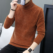 new 2018 cultivate one's morality men's sweaters turtleneck thickening solid-colored sweater in winter