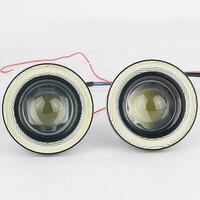 2Pcs Lot Car Fog Light With Lens 12V 30W Halo Angel Eyes Rings COB LED Xenon