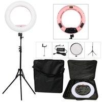 Yidoblo розовый FS 480II 5500 К камера с регулируемой яркостью фото/Studio/телефон/видео 18 48 Вт 480 светодио дный кольцо света светодио дный лампы + 2 м шта