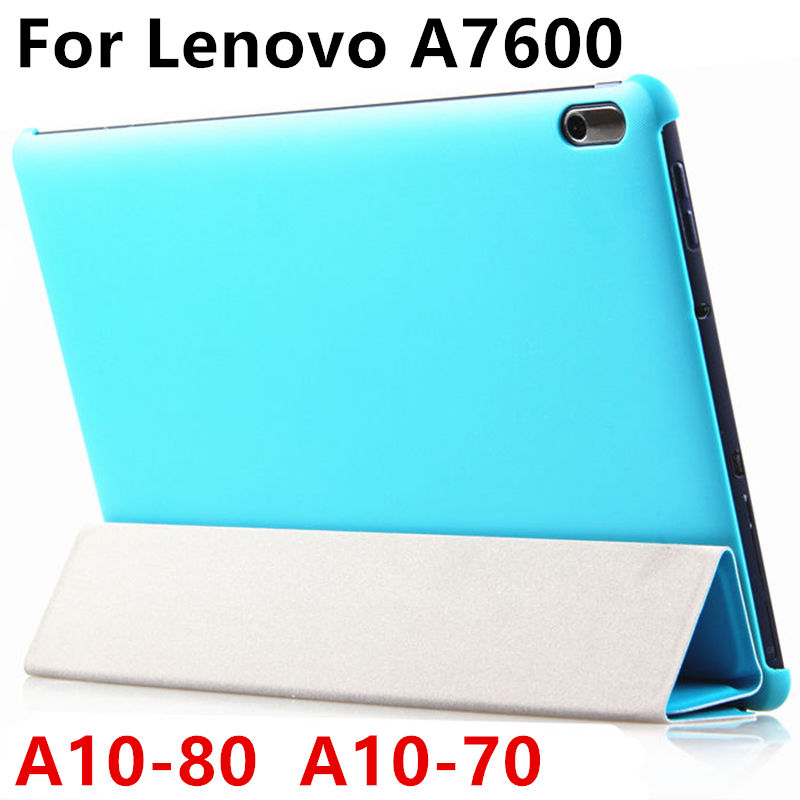 Case PU For Lenovo TAB A10-70 Protective Smart cover Leather Tablet PC For Ideatab A10-80 A7600 10.1 inch Protector Sleeve Case ultra thin smart flip pu leather cover for lenovo tab 2 a10 30 70f x30f x30m 10 1 tablet case screen protector stylus pen