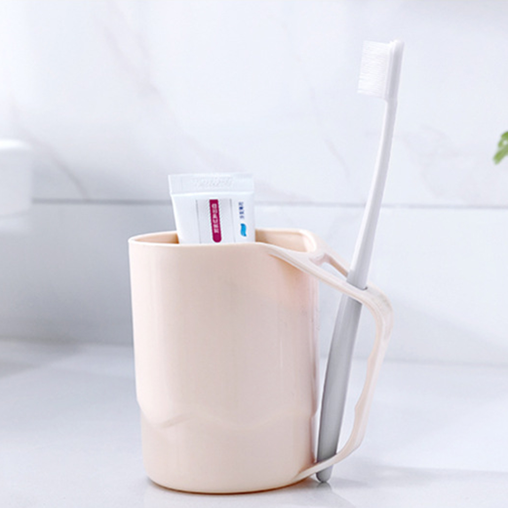 New Style Plastic Bathroom Tumblers Eco-friendly Toothbrush Holder Cup Rinsing Couple Rinse Brush Cup  Bathroom Tumblers New
