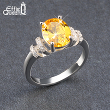 Effie Queen AAA+Cubic Zircon Rings Wholesale Platinum Plated Fashion Brand Anniversary Jewelry for Women DR52