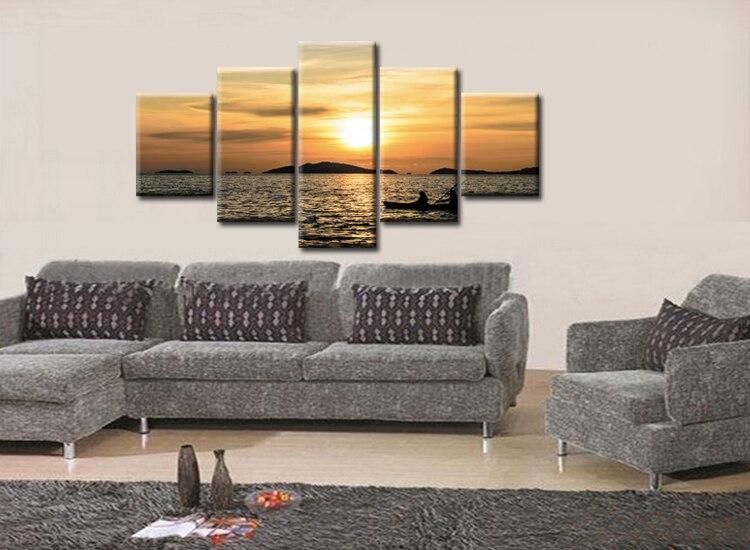 Sea Beach Sky landscape Art Silk Poster 8x12inch