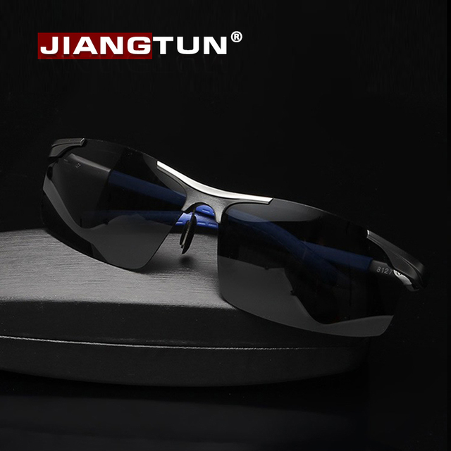 JIANGTUN New Aluminum Magnesium Polaroid Sunglasses Men Polarized Driving Sun Glasses Mens Brand Designer Fashion Oculos