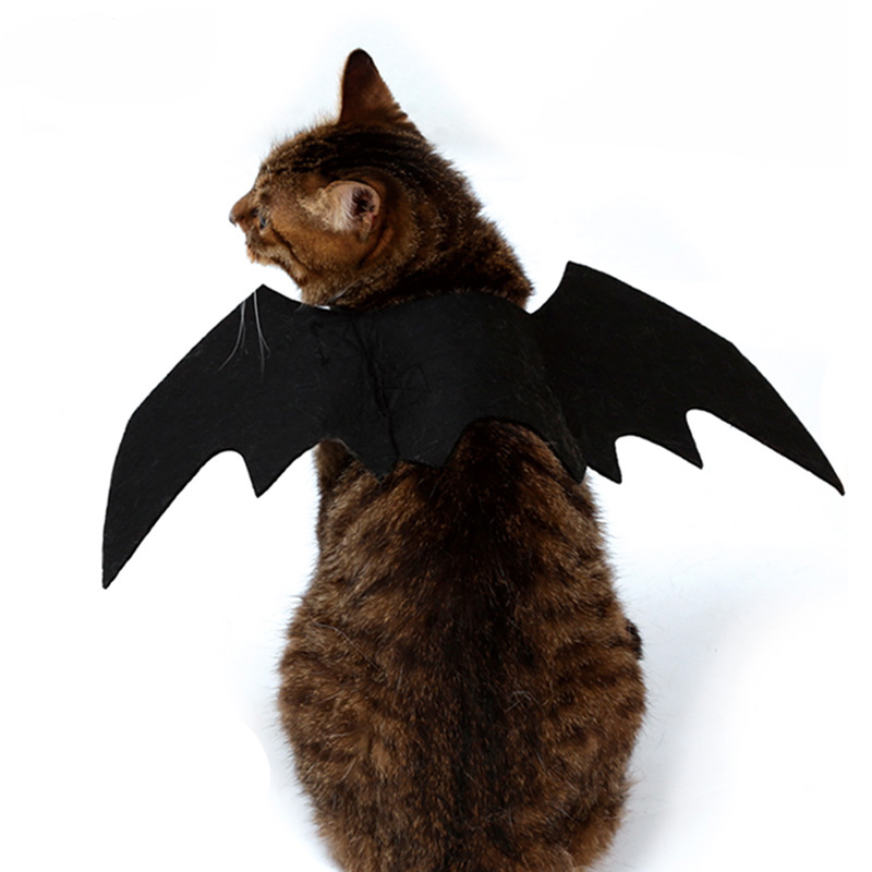 Hoomall 1pc Funny Cats Cosplay Costume Halloween Pet Bat Wings Cat Bat Costume Fit Party Dogs Cats Playing Pet Accessories #2