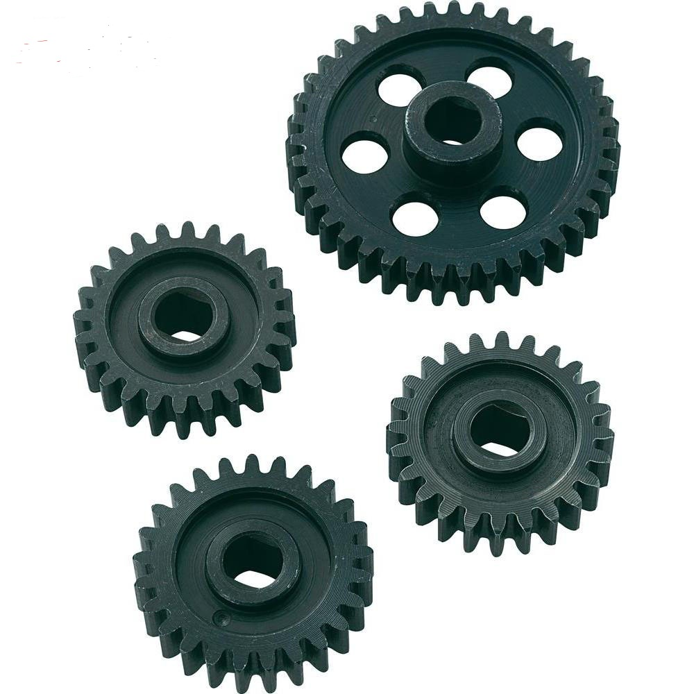 Metal 24/24/25/39T gear set for MT for 1/5 FS Racing CEN REELY rc car PARTS madmax widened waterproof wheel tire set extedned adapter for cen racing cen reeper monster truck 1 7 scale rc car parts