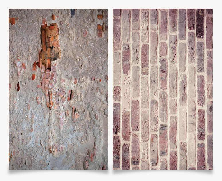 Big Size 60X90 CM 3D Afdrukken dubbele kanten Oude bakstenen muren Achtergrond Voor Foto Studio