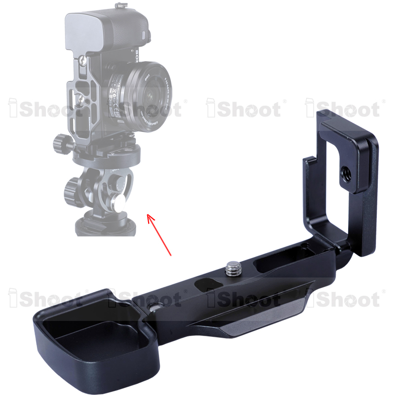 Removable L-shaped Vertical Shoot Tripod Ball Head Quick Release Plate/Camera Holder Bracket Grip case for Sony a6000 --HOT ITEM