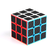 Carbon Fiber Magic Cubes Professional 3x3x3 5.6CM Sticker Speed Twist Puzzle Toys Children Gift Rubikx Cube Educational Toys