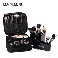 Professional Female Cosmetic Bag Brush Penalty Beauty Case Zipper Black Organizer For Cosmetics Wash Travel Makeup