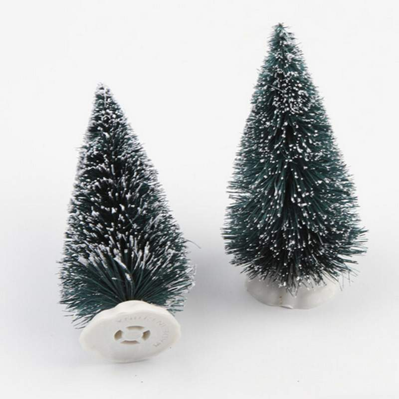 10 4 5cm Mini Christmas Tree Artificial Xmas Hemp Trees Cedar Ornaments Festival Table Miniature Snow Frost Village House In From Home Garden