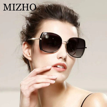 MIZHO Brand Copper Metal Butterfly Polarized Sunglasses For Women Gradient Luxury Fashion Eyewear TR90 Sunglass Female Oversized
