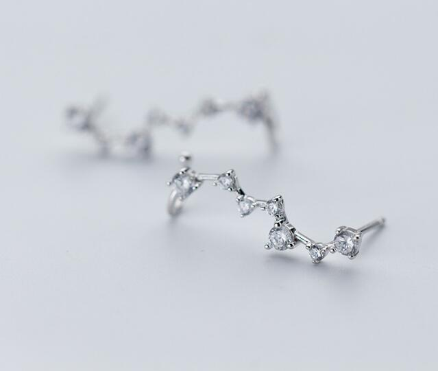 1pair 100 Real 925 Sterling Silver Fine Jewelry pRONG cz stone Climber Cuff Clip earrings new 1pair 100% Real. 925 Sterling Silver Fine Jewelry pRONG cz stone Climber Cuff Clip earrings new (NO pierced) gtle1936