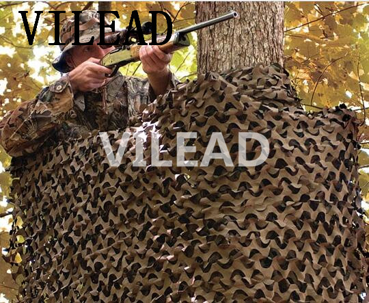 VILEAD 7M x 9M (23FT x 29.5FT) Desert Military Army Camo Netting Digital Camouflage Net Jungle Shelter for Hunting Camping Tent vilead 5m x 8m 16 5ft x 26ft desert military army camouflage net digital camo netting jungle sun shelter for hunting camping