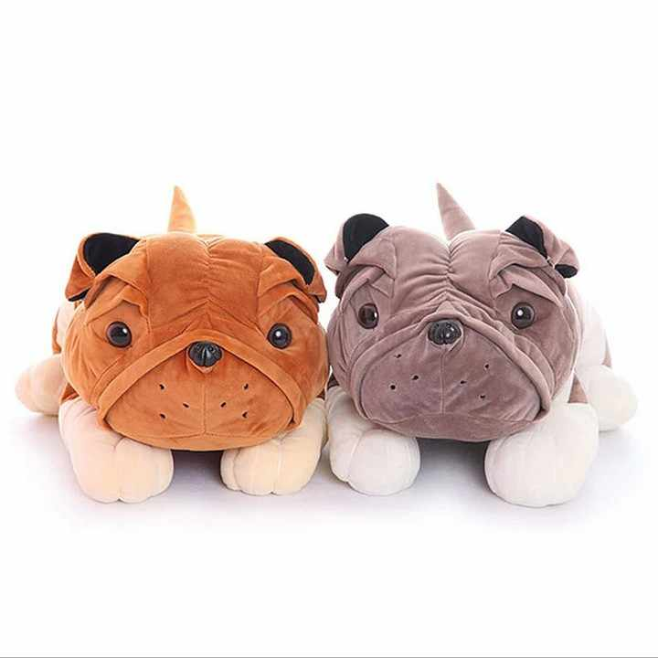 BOHS милая плюшевая кукла бульдог, лежащая в виде лежачей собаки Cockle Подушка игрушка для малышей Подарок 32 см