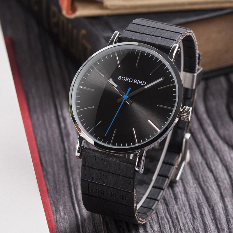 BOBO BIRD Wooden Wrist Watch Men Quartz Analog Watch Male Timepieces in Gifts box erkek kol saati relogio masculino bobo bird watch men wooden metal quartz watches special design men s wristwatches in wooden box timepieces relogio masculino