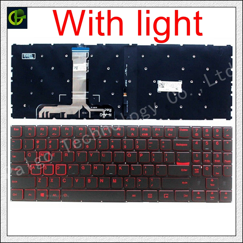 English Backlit Keyboard For Lenovo Legion Y520 Y520-15IKB Y720 Y720-15IKB R720 R720-15IKB 15 15IKB 9Z.NDKBN.D01 Laptop US