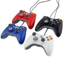 Sıcak dünya çapında 1 adet USB kablolu Gamepad beyaz denetleyici Microsoft Xbox & Slim 360 PC için Windows 7 sistemi