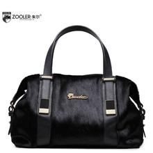 ZOOLER2016 new high quality luxury fashion horsehair portable shoulder bag counter genuine leather, women famous brands