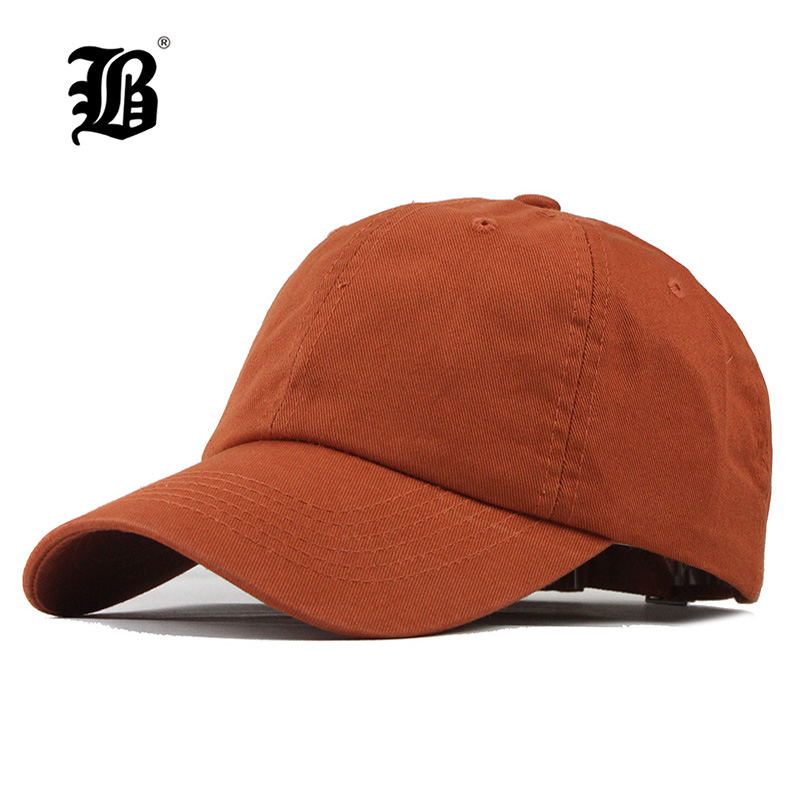 6d330f7ba85  FLB  2019 Unisex Spring Summer Solid Color Baseball Caps Washed Cotton  Women Snapback Hats