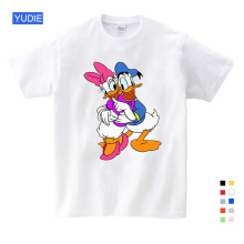 Short Sleeve Summer Donald Duck Print T Shirts Fashion White Children Clothes New 2019 Sport Shirt YUDIE