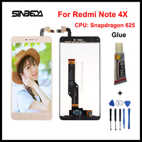 Sinbeda New LCD Screen For Xiaomi Redmi Note 4X Snapdragon 625 LCD Display With Touch Screen