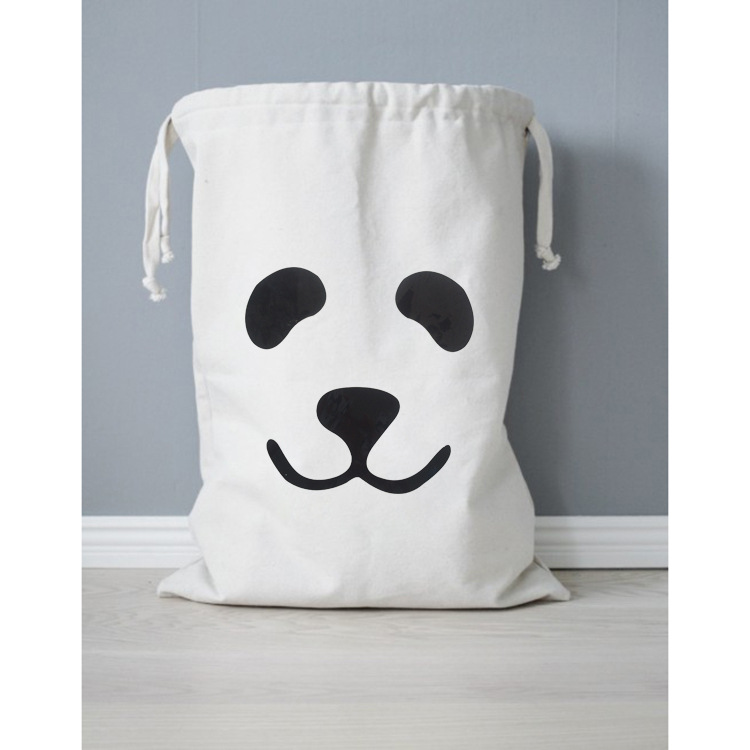 fashion girl Handmade Cotton Canvas Draw String Storage Bag Candy Gift Bag shopping bag ...