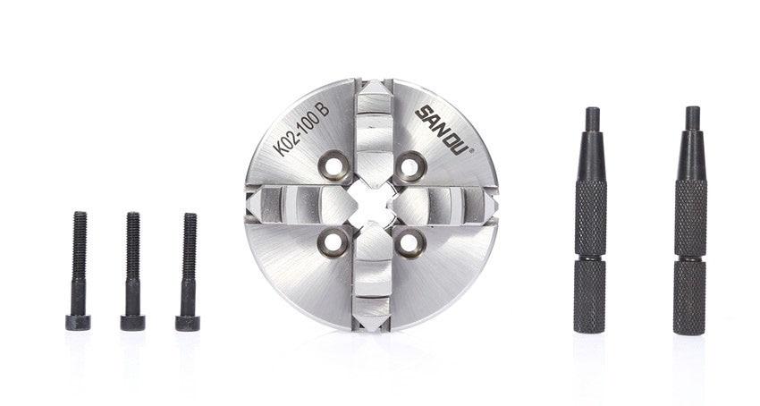 CNC LATHE Chuck 4 Jaw Manual Self-Centering 4 Mini Chuck K02-100B K02 100B Hardened Steel for Wood Lathe buk7510 100b to 220