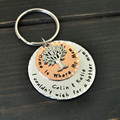 Personalized Family Tree Keychain For Mom, Memorial Gift Family Key Chain with Kids Names