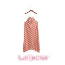 Sexy Halter bow lace uo summer dress women 2018 Strap square collar beach Casual stripe sleeveless long dresses vestidos
