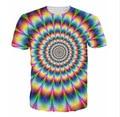 2016 Nuevo Llega El 3d Ropa de Moda de Las Mujeres tes de Los Hombres En el Estilo psicodélico Colorido Del Arco Iris T-Shirt camiseta Del Verano camisetas