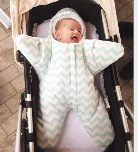 De alta qualidade do inverno do bebê saco de dormir anti kick estrelas de algodão sacos de dormir sacos de dormir de 0 a 1 anos