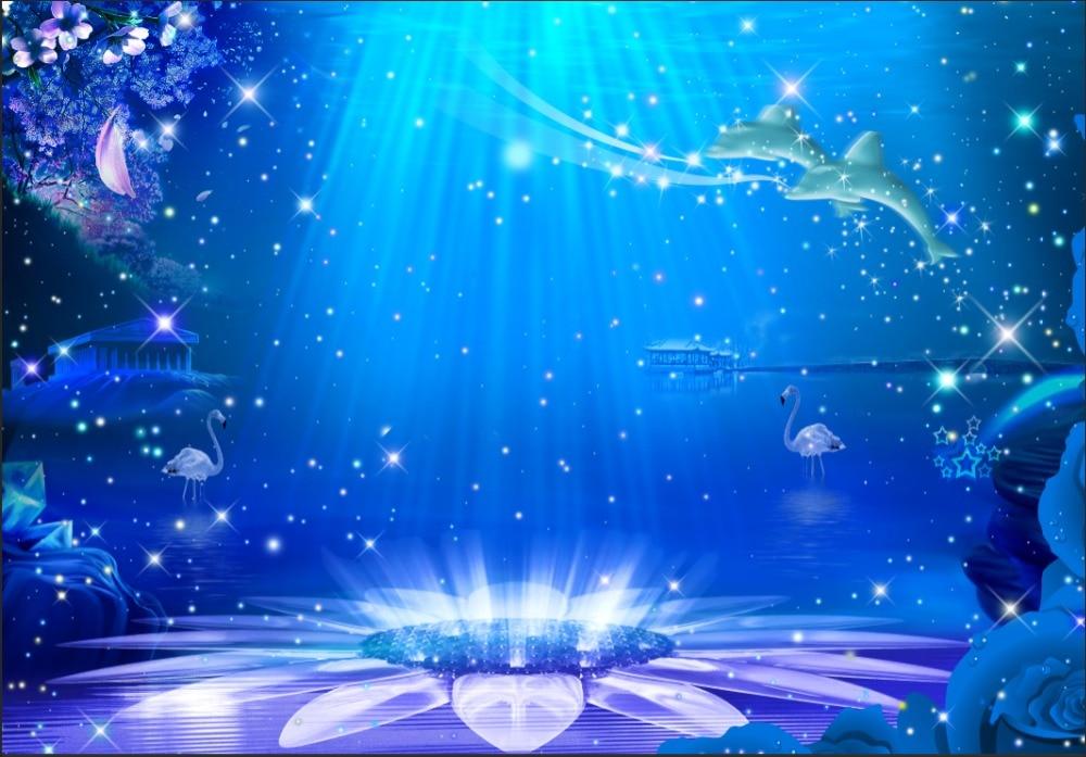 7x5ft Mermaid Under Sea Castle Stars Custom Photo Studio