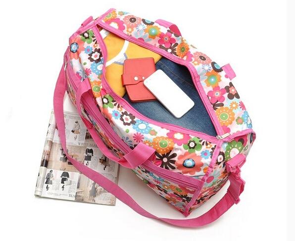 fashion Encryption flower print material travel bag big size one shoulder cross body messanger handbag pastoralism 0236857