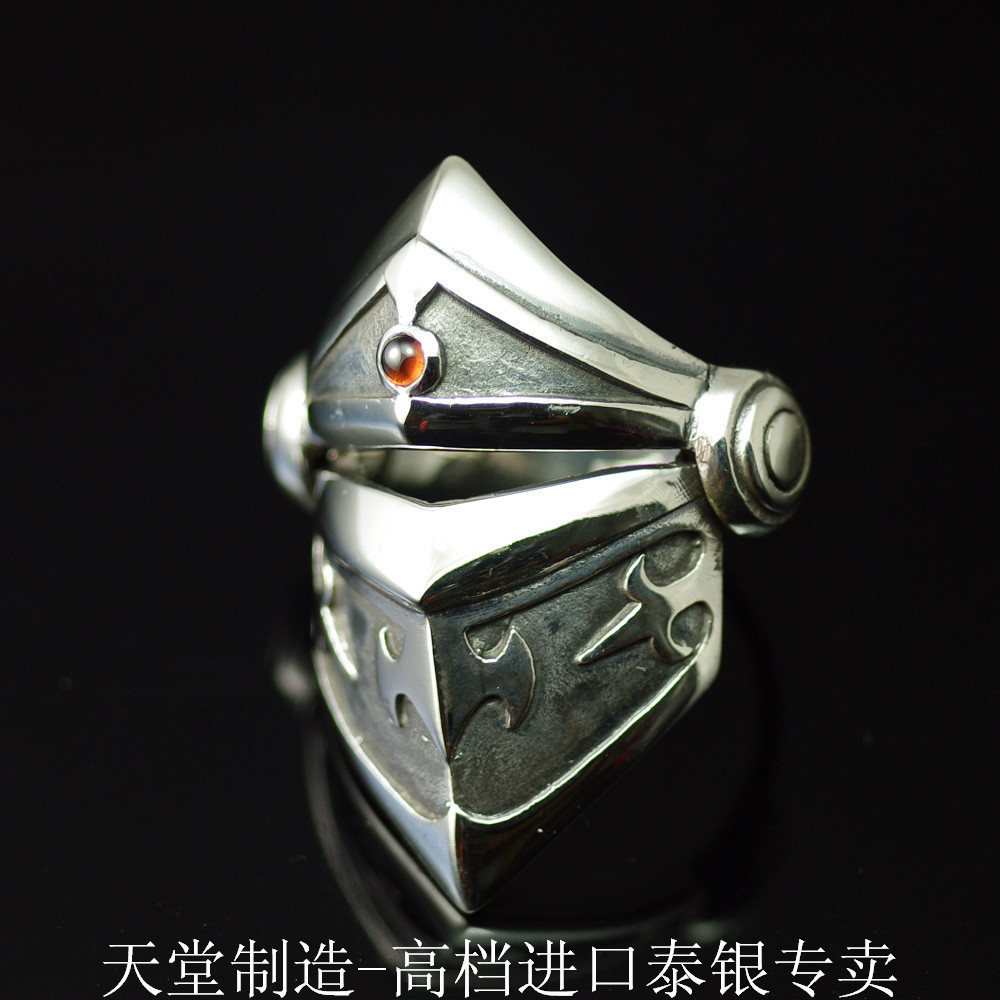 The import of silver, retro style three armor 925 Sterling Silver Ring the realm of clans anime ling yu qinlie 925 sterling silver ring comics cartoon