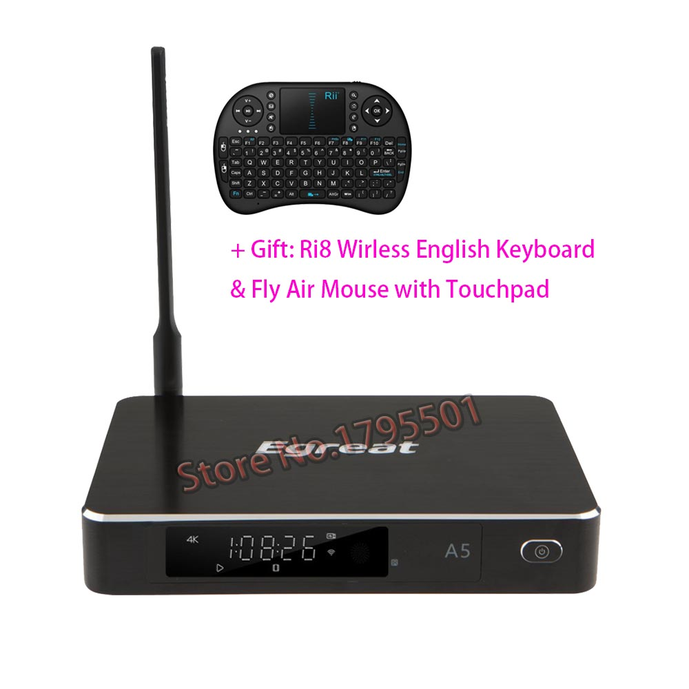 2018 NOUVEAU Egreat A5 Intelligent Android TV Box 3D 4 k UHD Media Player avec HDR USB3.0 Suppot SATA OTA blu-ray Disque Dolby Ture HD DTS-HD