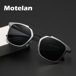 Image 1 - 2019 New Men Polarized Rimless Aluminum Sunglasses Driving Fishing Polarised Eyewear Rectangle UV400 Sun Glasses Anti Glare 8639