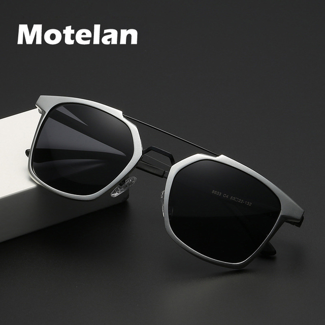 2019 New Men Polarized Rimless Aluminum Sunglasses Driving Fishing Polarised Eyewear Rectangle UV400 Sun Glasses Anti Glare 8639