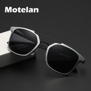 Image 1 - 2019 ผู้ชายใหม่ Polarized Rimless แว่นตากันแดดอลูมิเนียมตกปลา Polarized แว่นตาสี่เหลี่ยมผืนผ้า UV400 Sun แว่นตา Anti   Glare 8639