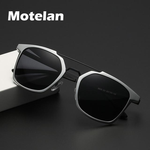 2019 ผู้ชายใหม่ Polarized Rimless แว่นตากันแดดอลูมิเนียมตกปลา Polarized แว่นตาสี่เหลี่ยมผืนผ้า UV400 Sun แว่นตา Anti   Glare 8639