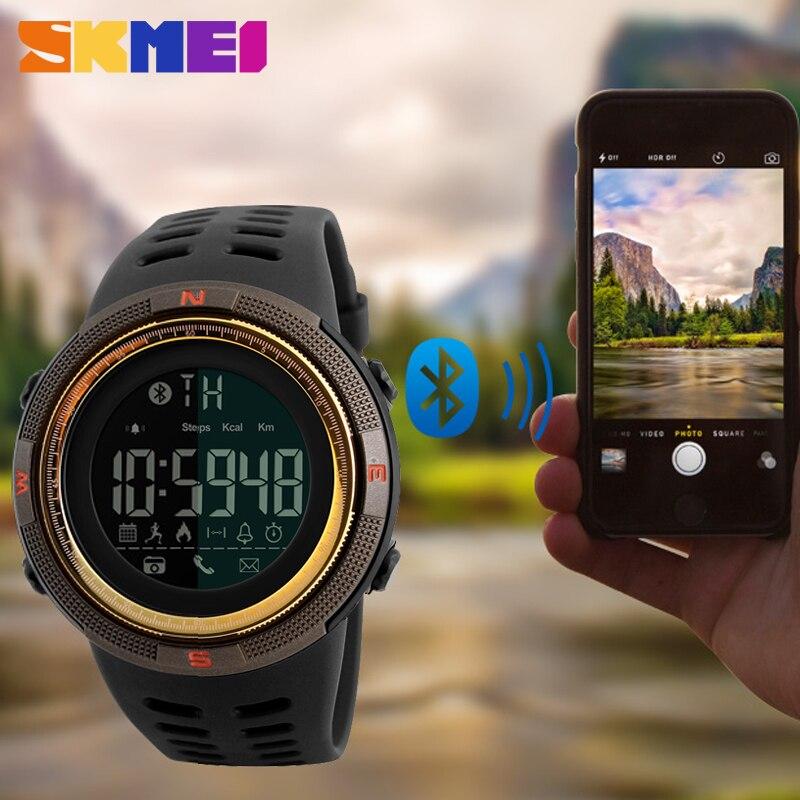 SKMEI Hommes de Montres Smart Sport Montre Calories Podomètre Chrono Multi-Fonctions LED Numérique Montres Sport Montres Pour Hommes