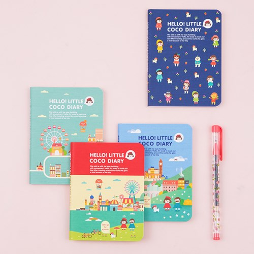 Cute Colorful Cartoon Park Theme 2018 Mini Pocket Agenda Monthly Planner  9*12.5cm 64P School Office Supplies Children Gift In Notebooks From Office  U0026 School ...