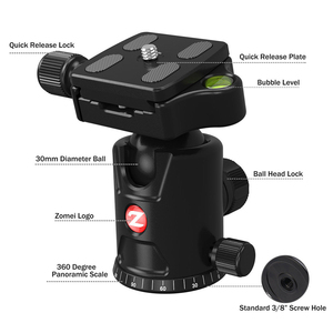 Image 3 - ZOMEI נסיעות מצלמה חצובה M8 אלומיניום חדרגל מקצועי חצובה גמיש עם טלפון מחזיק עבור שידור חי DSLR Canon Sony