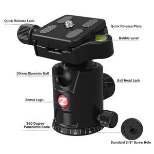 Image 3 - ZOMEI seyahat kamera Tripod M8 alüminyum Monopod profesyonel Tripod esnek telefon tutucu canlı yayın DSLR Canon Sony